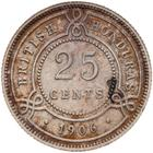 Twenty Five Cents 1906: Photo Coin - 25 Cents, British Honduras (Belize), 1906