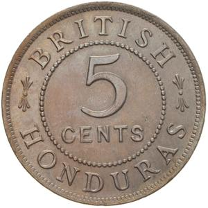 British Honduras / Five Cents 1911 - reverse photo