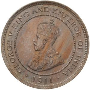 British Honduras / Five Cents 1911 - obverse photo
