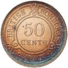 Fifty Cents 1907: Photo Coin - 50 Cents, British Honduras (Belize), 1907