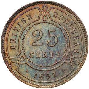 British Honduras / Twenty Five Cents 1897 - reverse photo