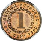 British Honduras / One Cent 1950 / Proof - reverse photo
