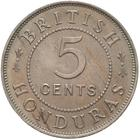 British Honduras / Five Cents 1907 - reverse photo