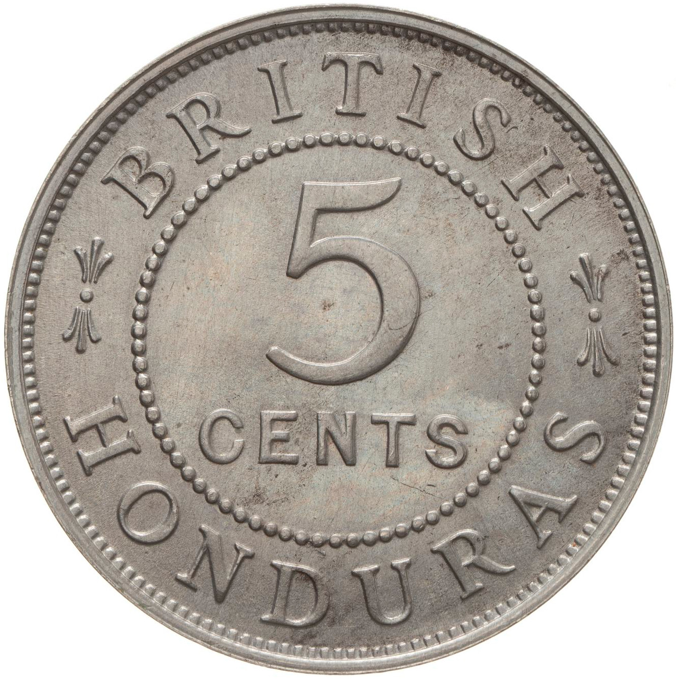 Five Cents 1919: Photo Coin - 5 Cents, British Honduras (Belize), 1919