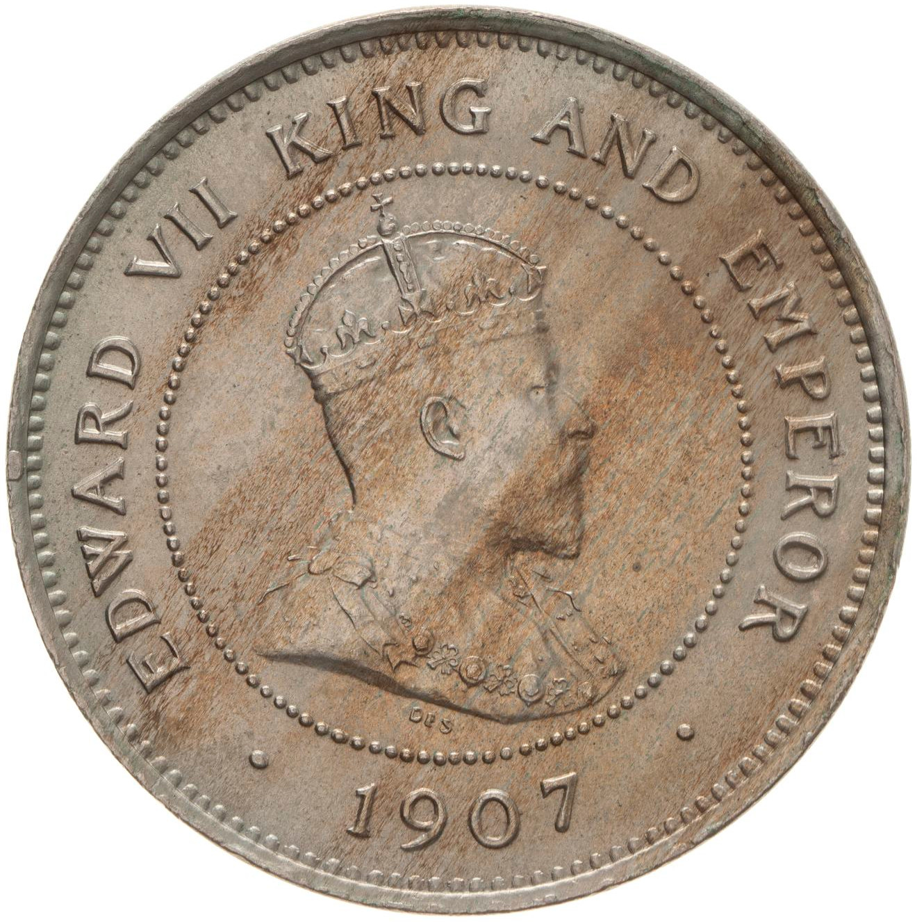 Five Cents 1907: Photo Coin - 5 Cents, British Honduras (Belize), 1907