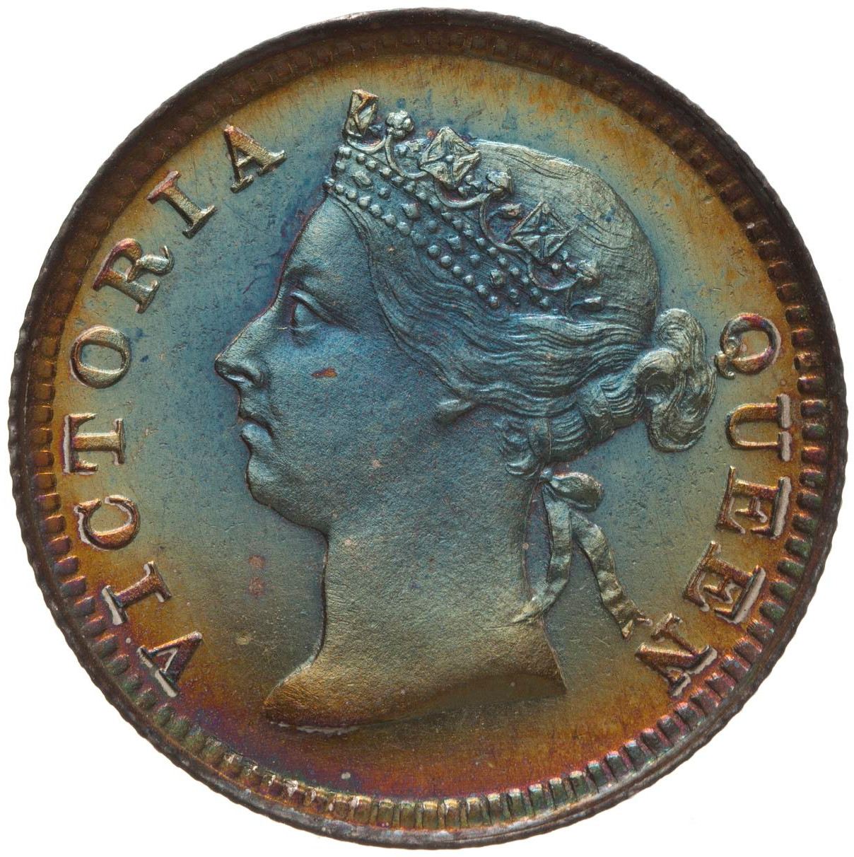 Five Cents: Photo Proof Coin - 5 Cents, British Honduras (Belize), 1894