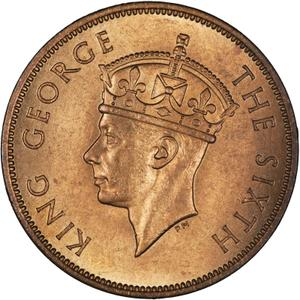 British Honduras / One Cent 1950 - obverse photo