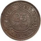 Twenty Five Cents 1919: Photo Coin - 25 Cents, British Honduras (Belize), 1919