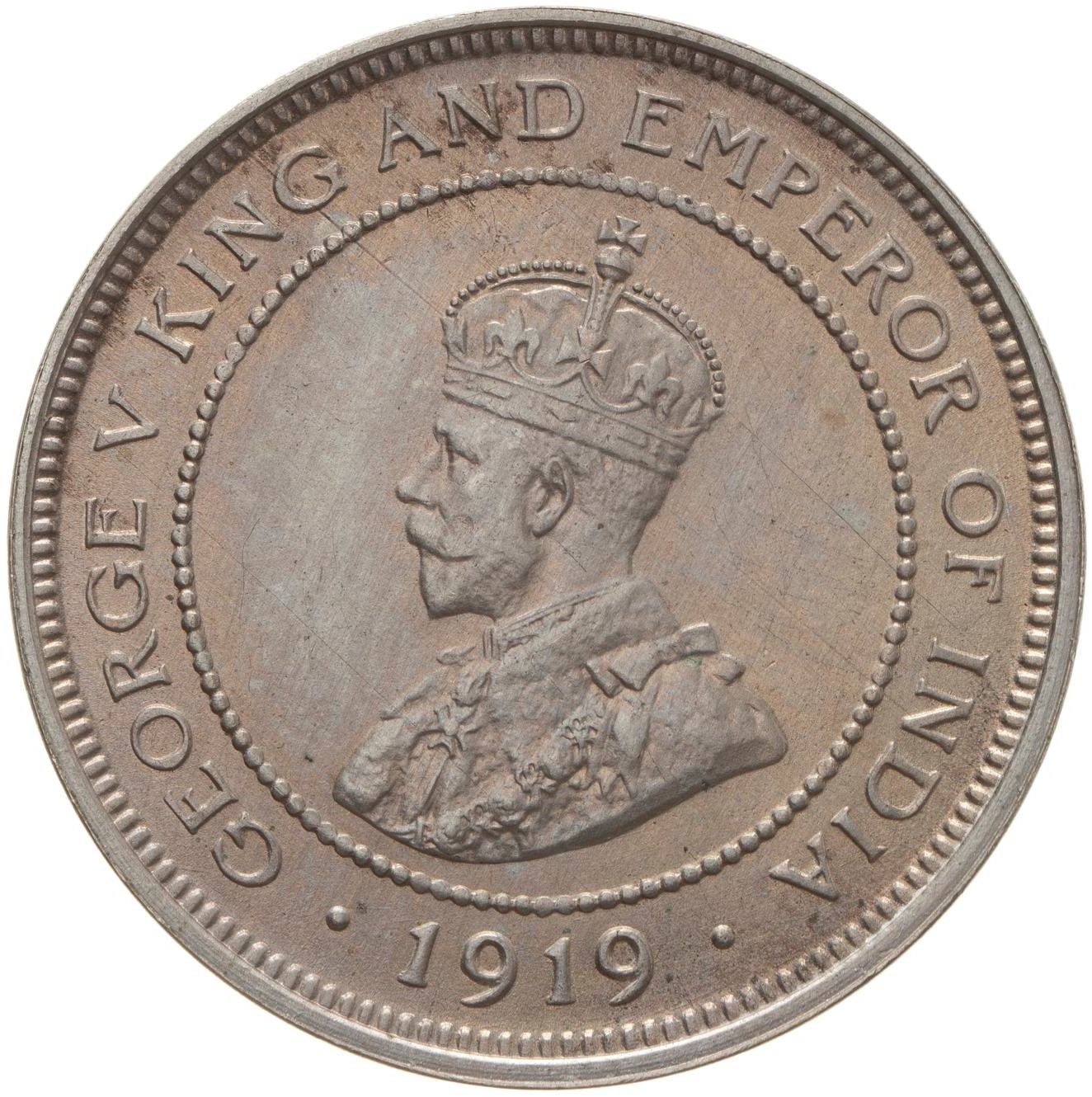 Five Cents: Photo Coin - 5 Cents, British Honduras (Belize), 1919