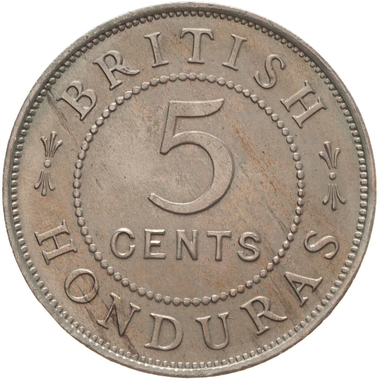 Five Cents: Photo Coin - 5 Cents, British Honduras (Belize), 1907