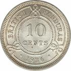 Ten Cents 1936: Photo British Honduras 1936 10 cents