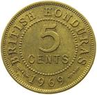 British Honduras / Five Cents 1969 - reverse photo