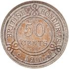Fifty Cents 1911: Photo Coin - 50 Cents, British Honduras (Belize), 1911