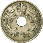 British West Africa / One Penny 1919 - reverse photo