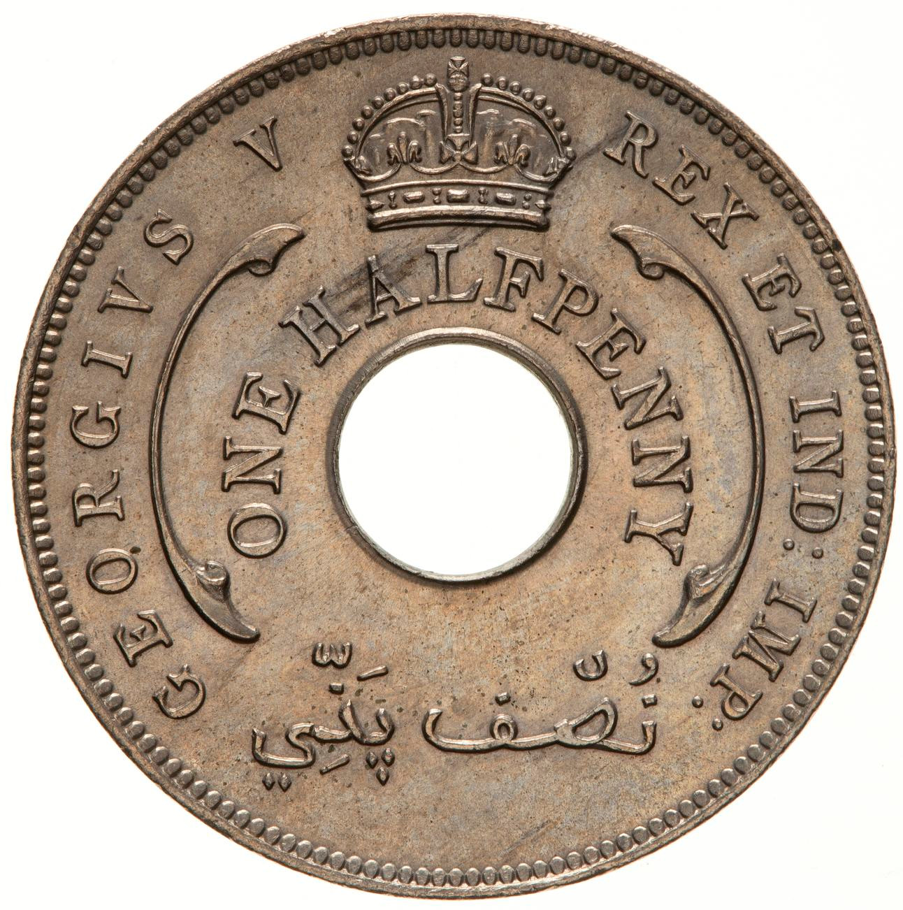 Halfpenny: Photo Coin - 1/2 Penny, British West Africa, 1913