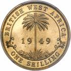 British West Africa / One Shilling 1949 / Proof (King's Norton Metal Co.) - reverse photo