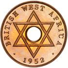 British West Africa / One Penny 1952 - obverse photo