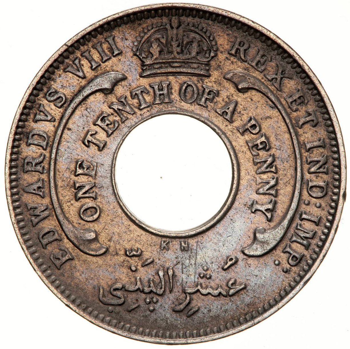 One-tenth Penny (CuproNickel, Edward VIII): Photo Coin - 1/10 Penny, British West Africa, 1936