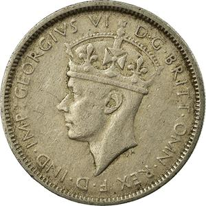 British West Africa / Threepence 1947 - obverse photo