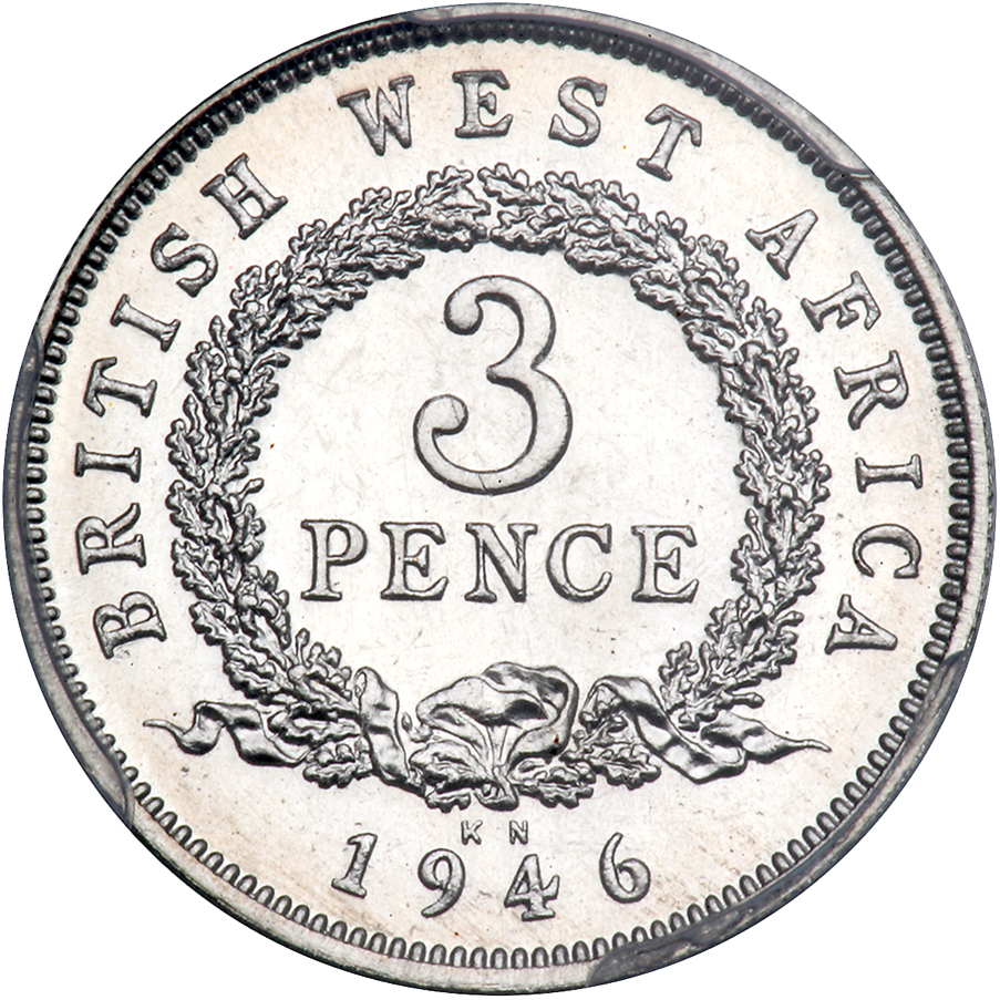 Threepence 1946: Photo British West Africa 1946-KN 3 pence
