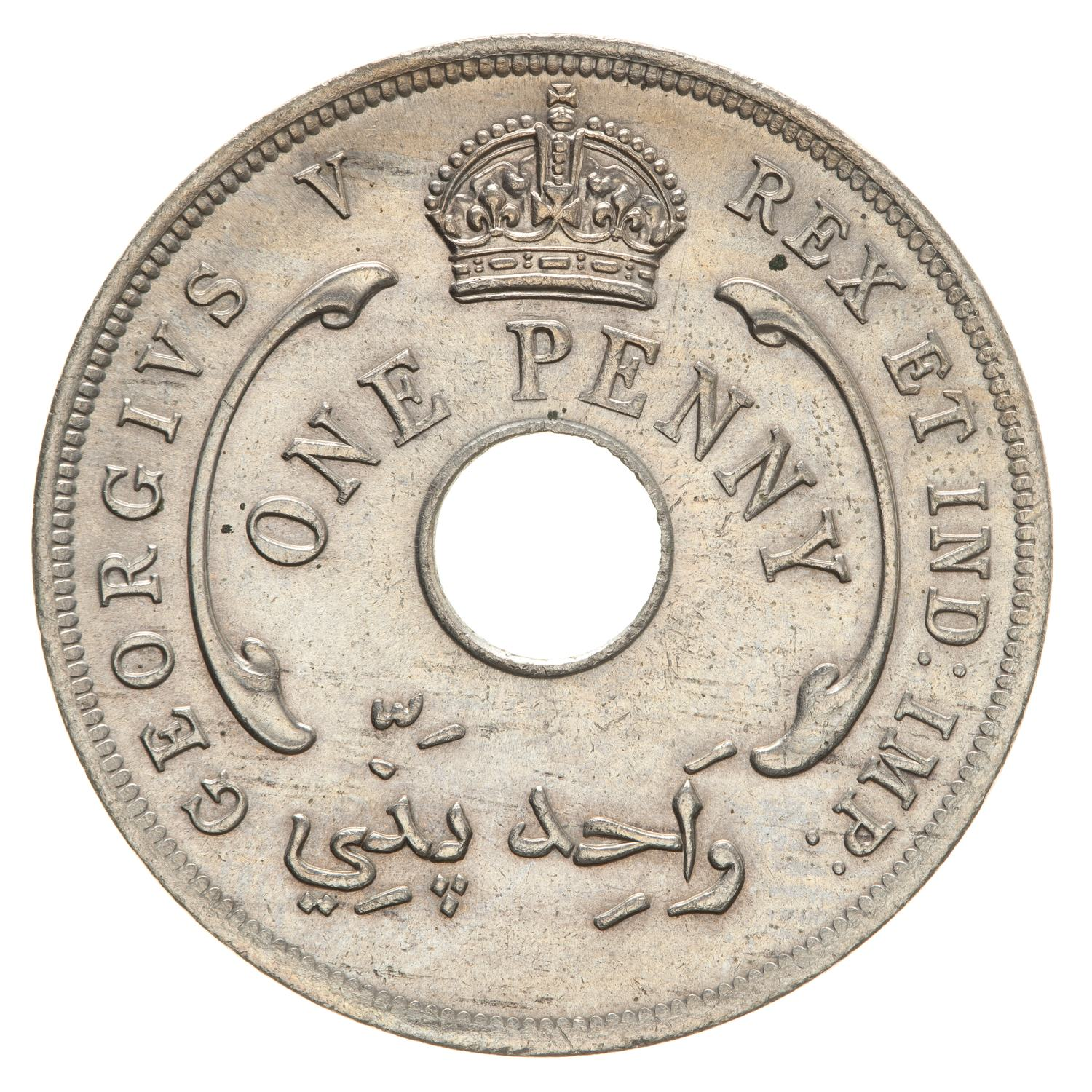One Penny (CuproNickel): Photo Coin - 1 Penny, British West Africa, 1913
