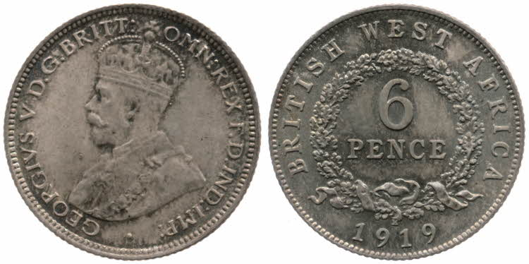 Sixpence 1919: Photo 6 Pence
