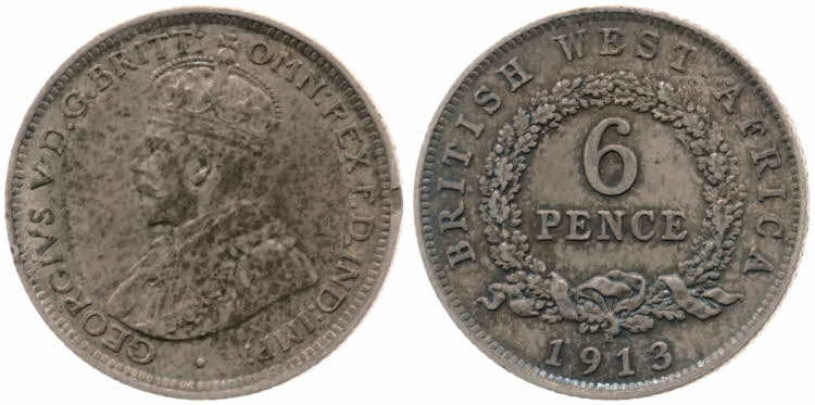 Sixpence 1913: Photo 6 Pence