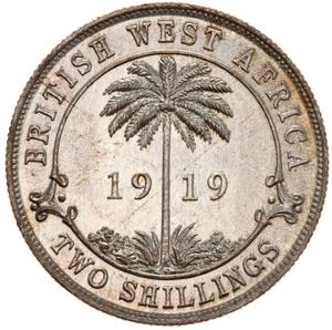 British West Africa / Two Shillings, Silver - reverse photo