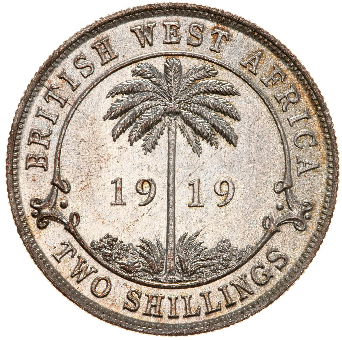 Two Shillings: Photo Coin - 2 Shillings, British West Africa, 1919
