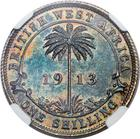 Shilling 1913: Photo British West Africa 1913 shilling