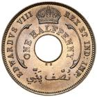 British West Africa / Halfpenny - obverse photo