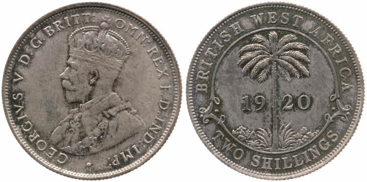 Two Shillings 1920 (Sterling Silver): Photo Two Shillings