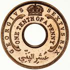 British West Africa / One-tenth Penny 1952 - reverse photo