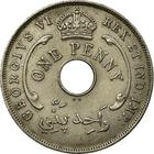 British West Africa / One Penny 1946 - reverse photo