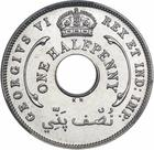 British West Africa / Halfpenny 1940 - obverse photo