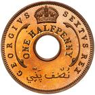 British West Africa / Halfpenny 1952 - reverse photo