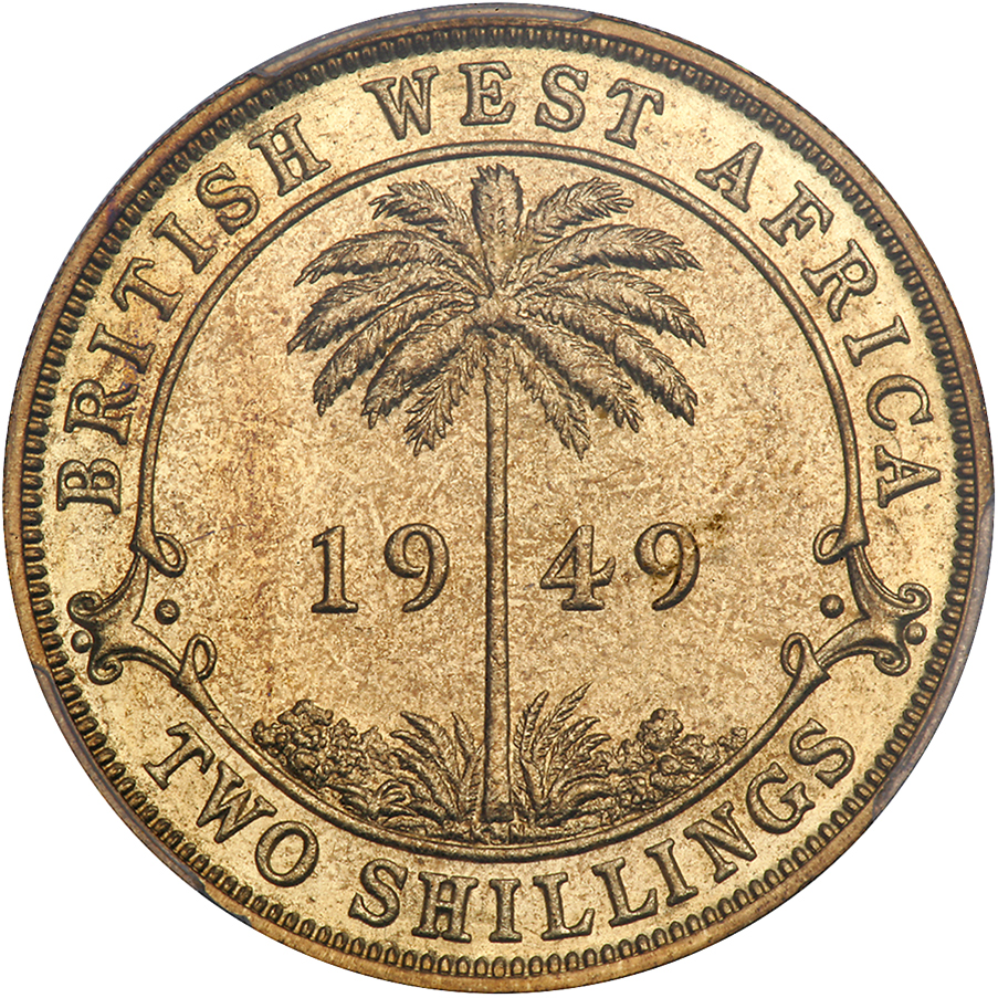 Two Shillings 1949: Photo British West Africa 1949-KN 2 shillings