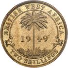 British West Africa / Two Shillings 1949 - reverse photo