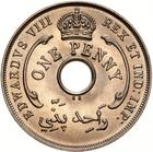 One Penny 1936 Edward VIII: Photo Coin - 1 Penny, British West Africa, 1936