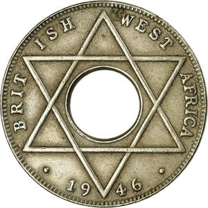 British West Africa / One-tenth Penny 1942 - reverse photo
