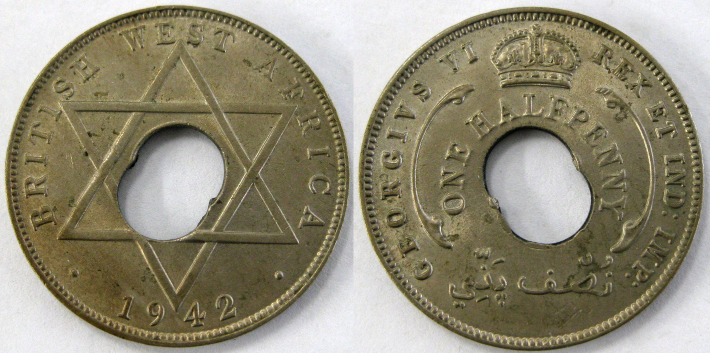 Halfpenny 1942: Photo British West Africa 1942 1/2 penny