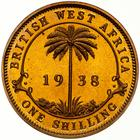 British West Africa / Shilling 1938 / Proof - reverse photo