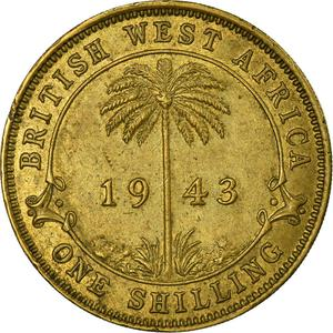 British West Africa / One Shilling 1943 - reverse photo