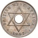 One Penny 1947: Photo Coin - 1 Penny, British West Africa, 1947