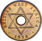 British West Africa / One Penny 1952 / Proof (King's Norton Metal Co.) - obverse photo