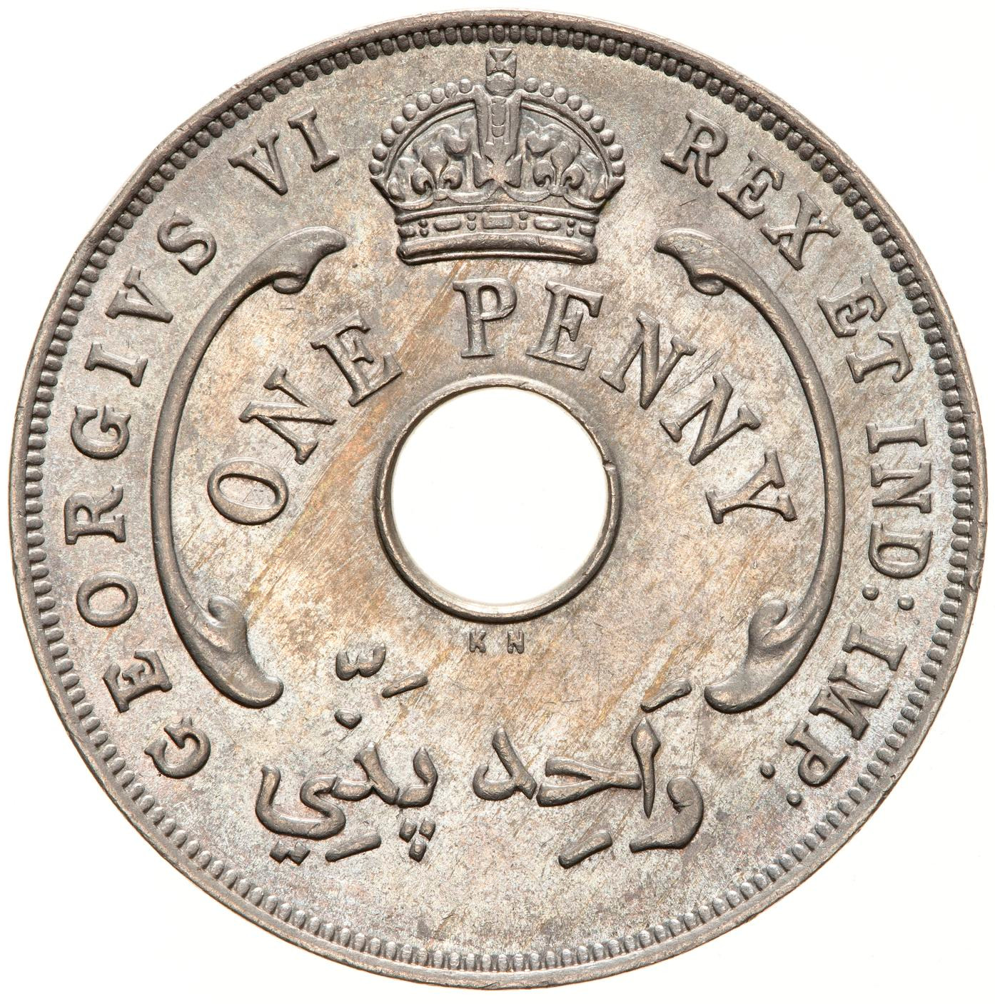 One Penny (CuproNickel): Photo Coin - 1 Penny, British West Africa, 1947