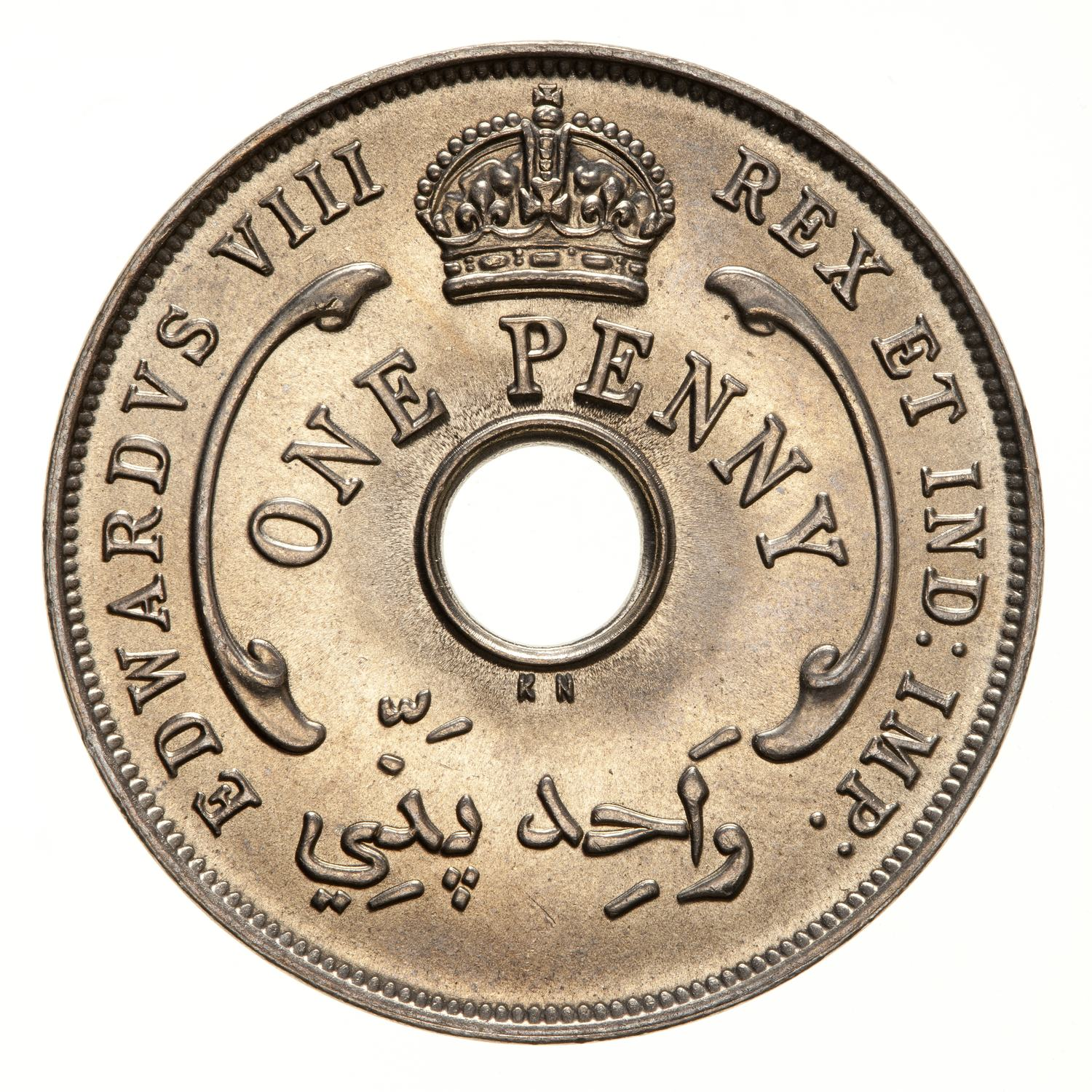 One Penny (CuproNickel): Photo Coin - 1 Penny, British West Africa, 1936