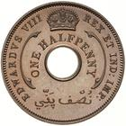 British West Africa / Halfpenny 1936 Edward VIII - obverse photo