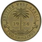 British West Africa / Two Shillings 1924 - reverse photo