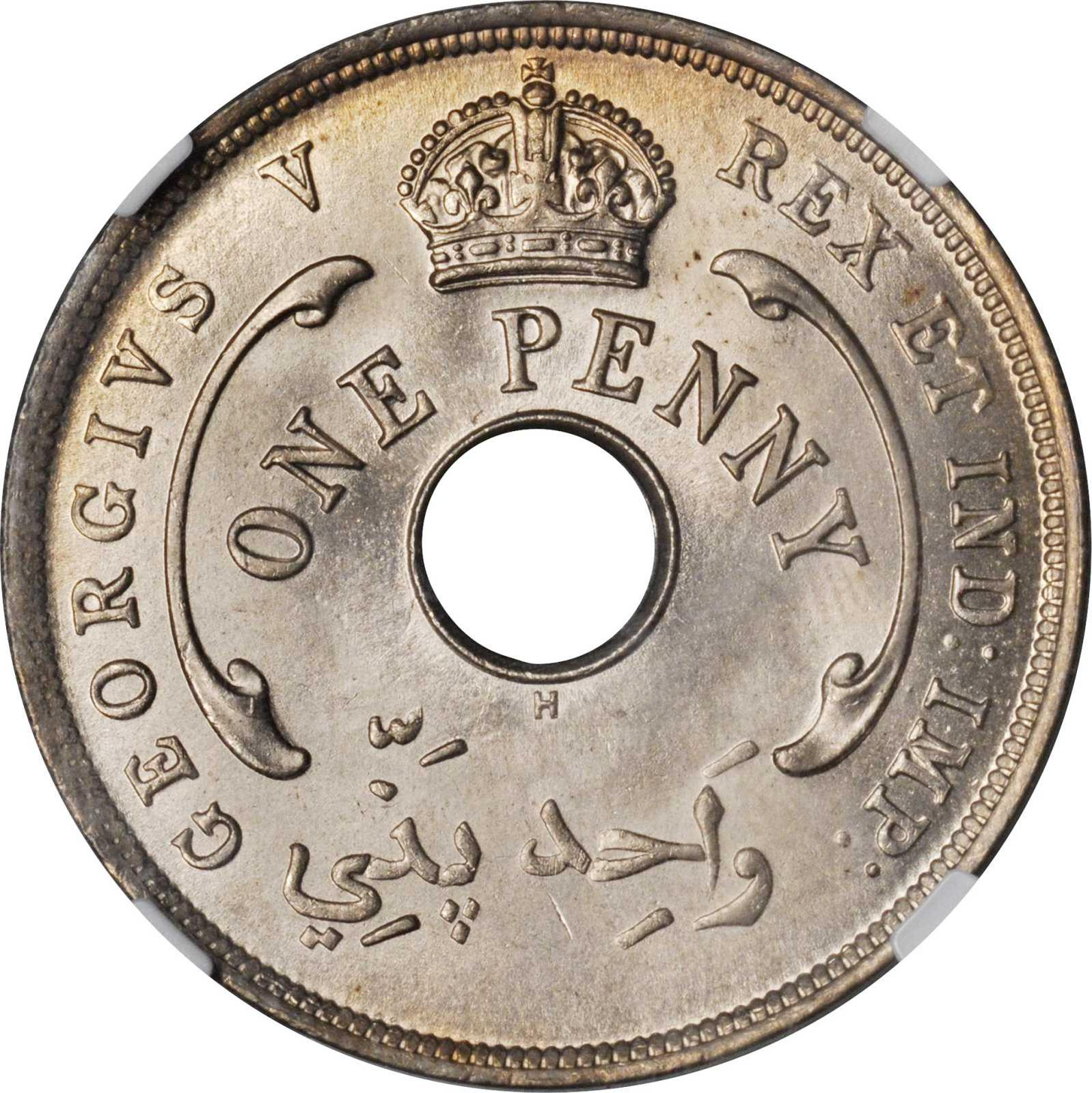 One Penny 1911: Photo British West Africa 1911-H penny